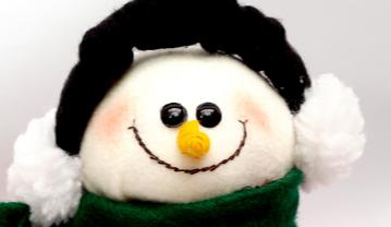 Muñeco de nieve, idea para guardar galletas