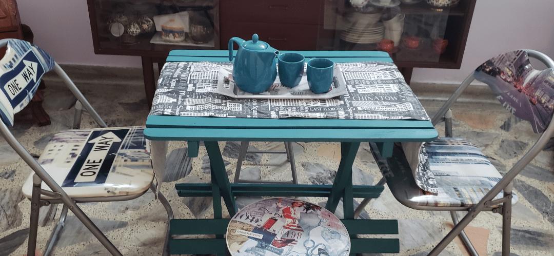 Pasos para convertir una mesa auxiliar en comedor