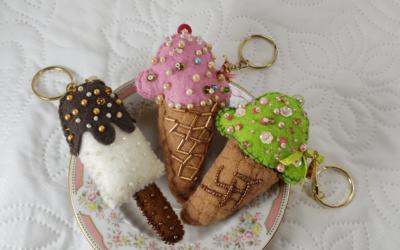 Increíbles y fantásticos helados pero… ¡en llaveros!
