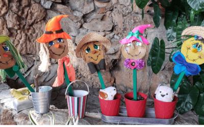 Cómo decorar tu jardín con espantapájaros de cd