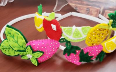 Crea increíbles  frutas en fieltro para diademas