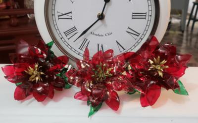 De botella a hermosas flores de navidad ¡Increíble!