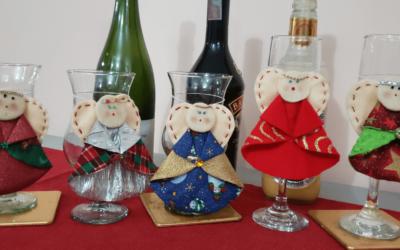 Efectivos marcadores de copas y vasos para navidad