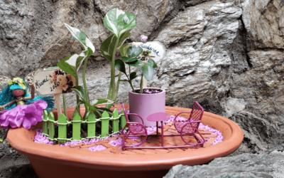 Cómo elaborar bellos jardines en miniatura con terraza.