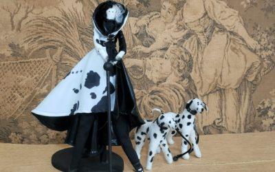 Hermosa, inteligente y malvada villana, Cruella de Vil 2021 en tela, realízala ya